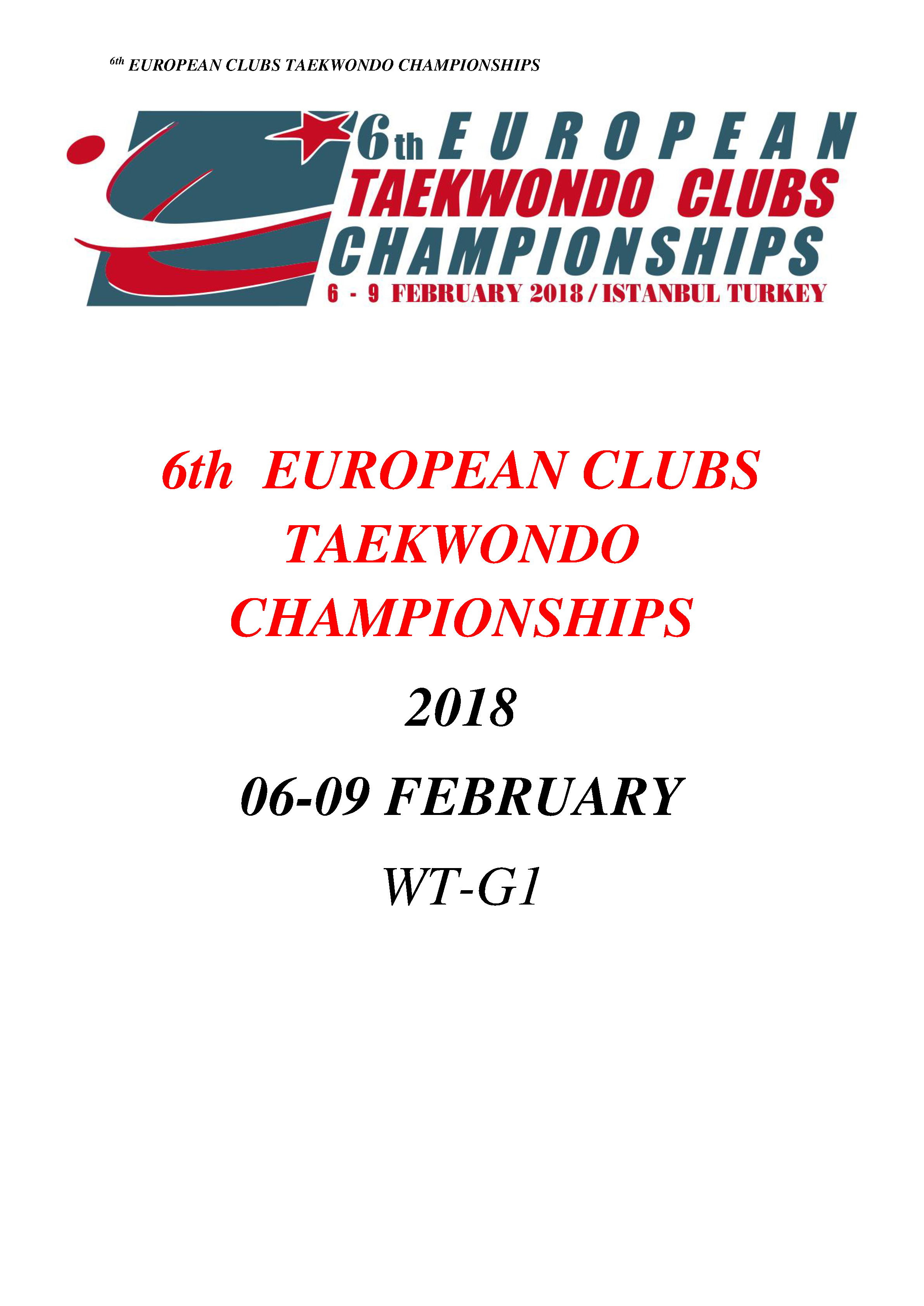 Картинки по запросу 6th European Taekwondo Clubs Championships